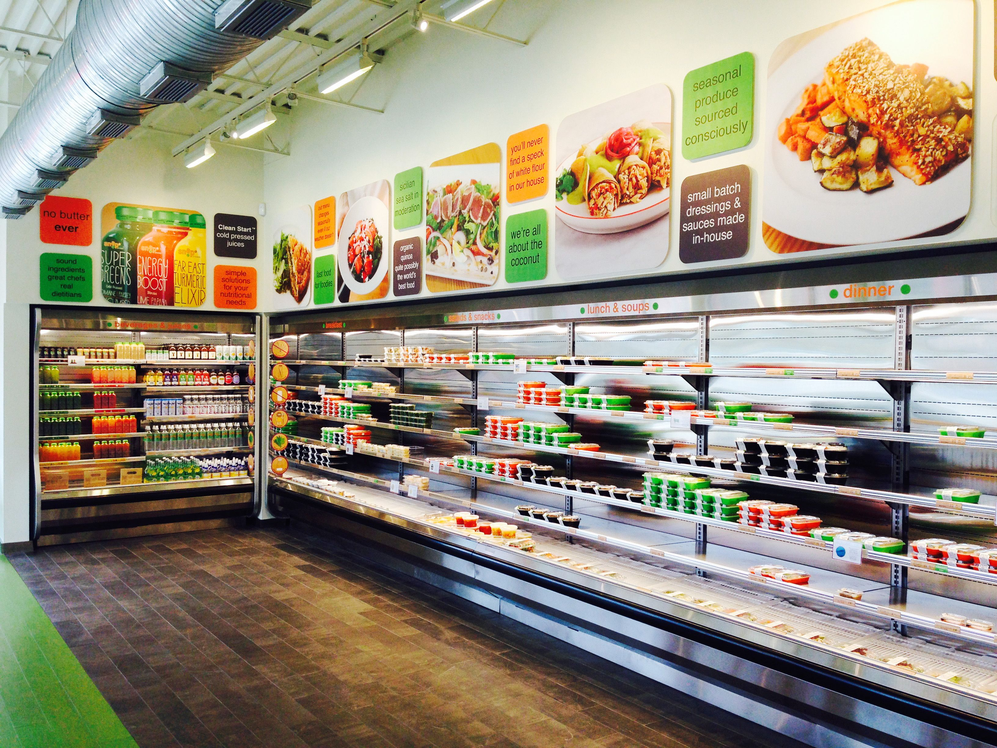 Snap Kitchen: Menu Boards Over The Display Cases Good Ideas
