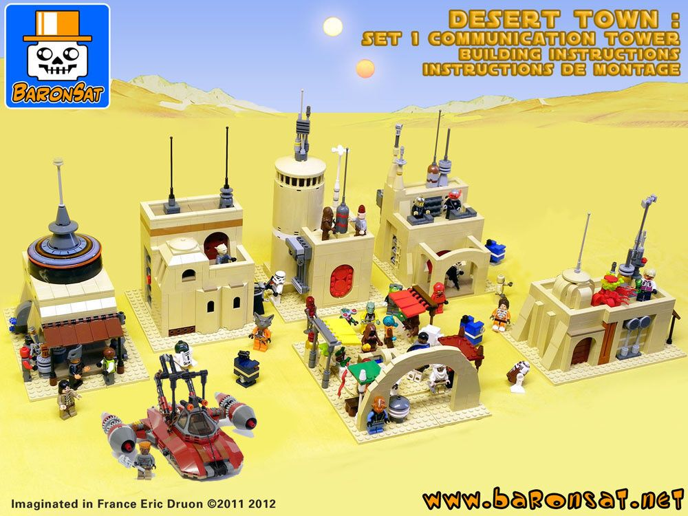 Instructions for custom Moss Eisley | Lego Buildings | Pinterest ...