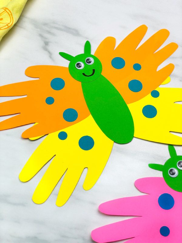 Photo of Handprint Butterfly Craft For Kids