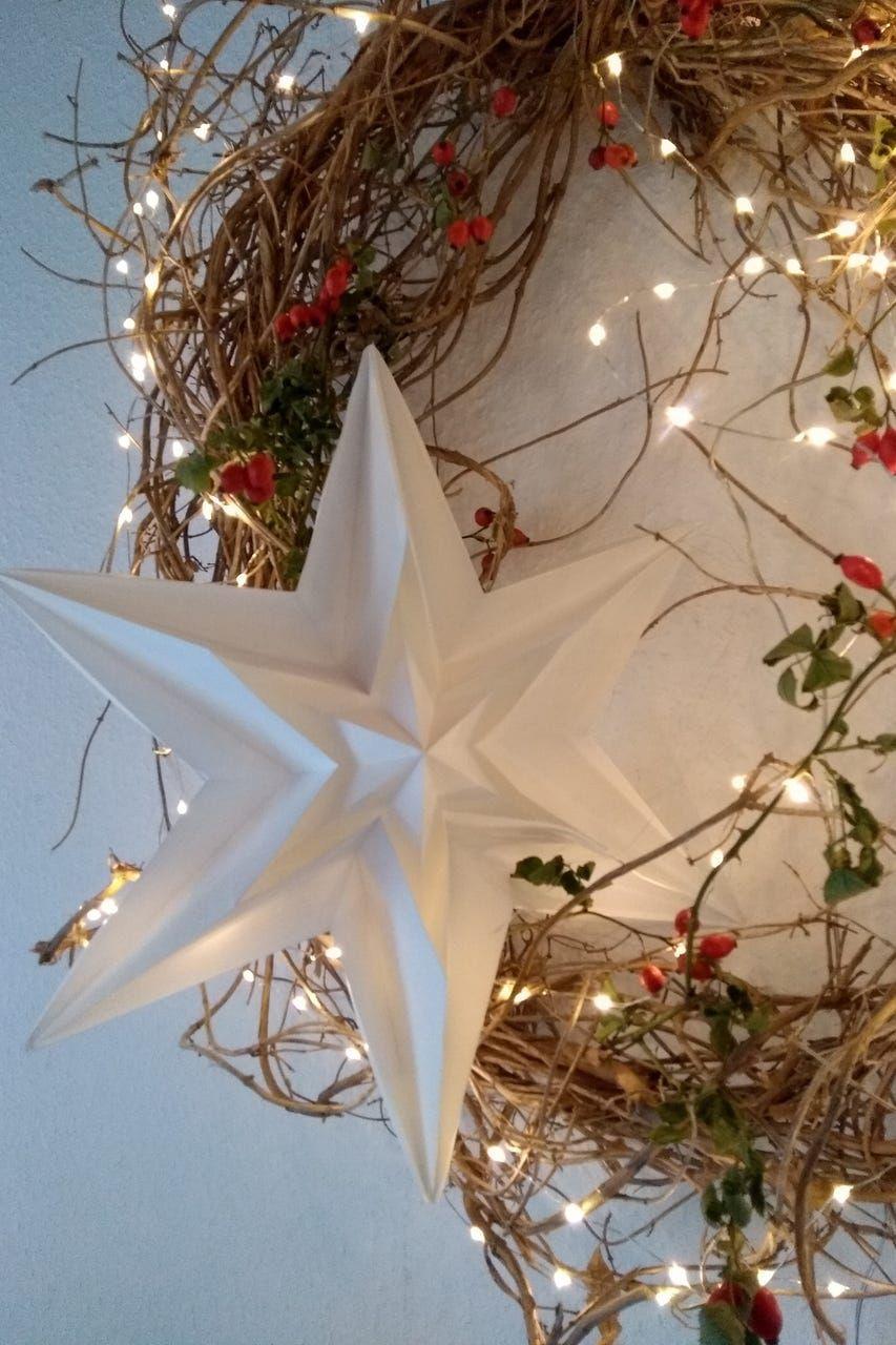 Landlust Stern Basteln Weihnachten Sterne Papier Landlust Weihnachtsdekoration