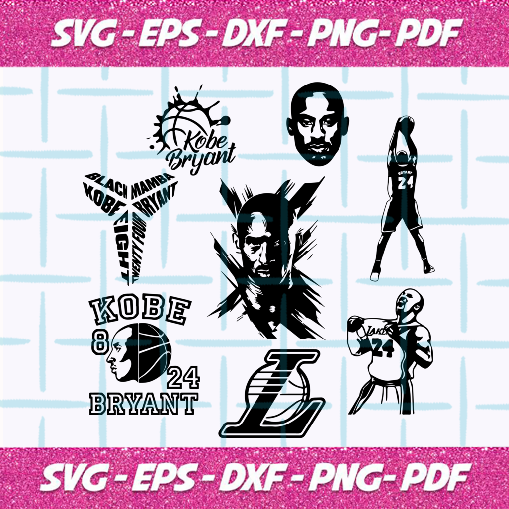 Kobe Bryant SVG Files For Silhouette, Files For Cricut