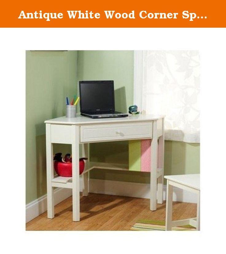 Antique White Wood Corner Space Saving Office Dorm Furniture Writing Study Desk Make The Most Of Desks For Small Spaces White Corner Desk Corner Computer Desk