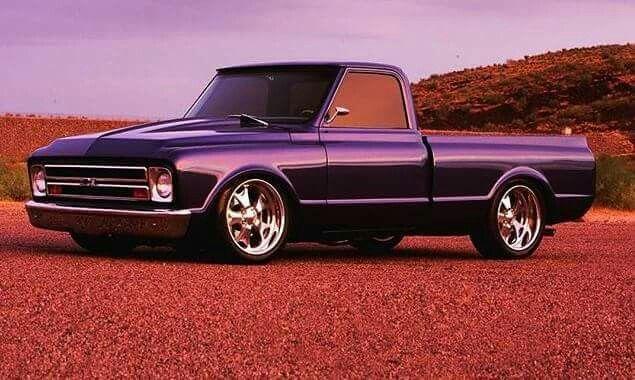 Purple 67 72 Chevy C10 Truck Classic Chevy Trucks Chevy