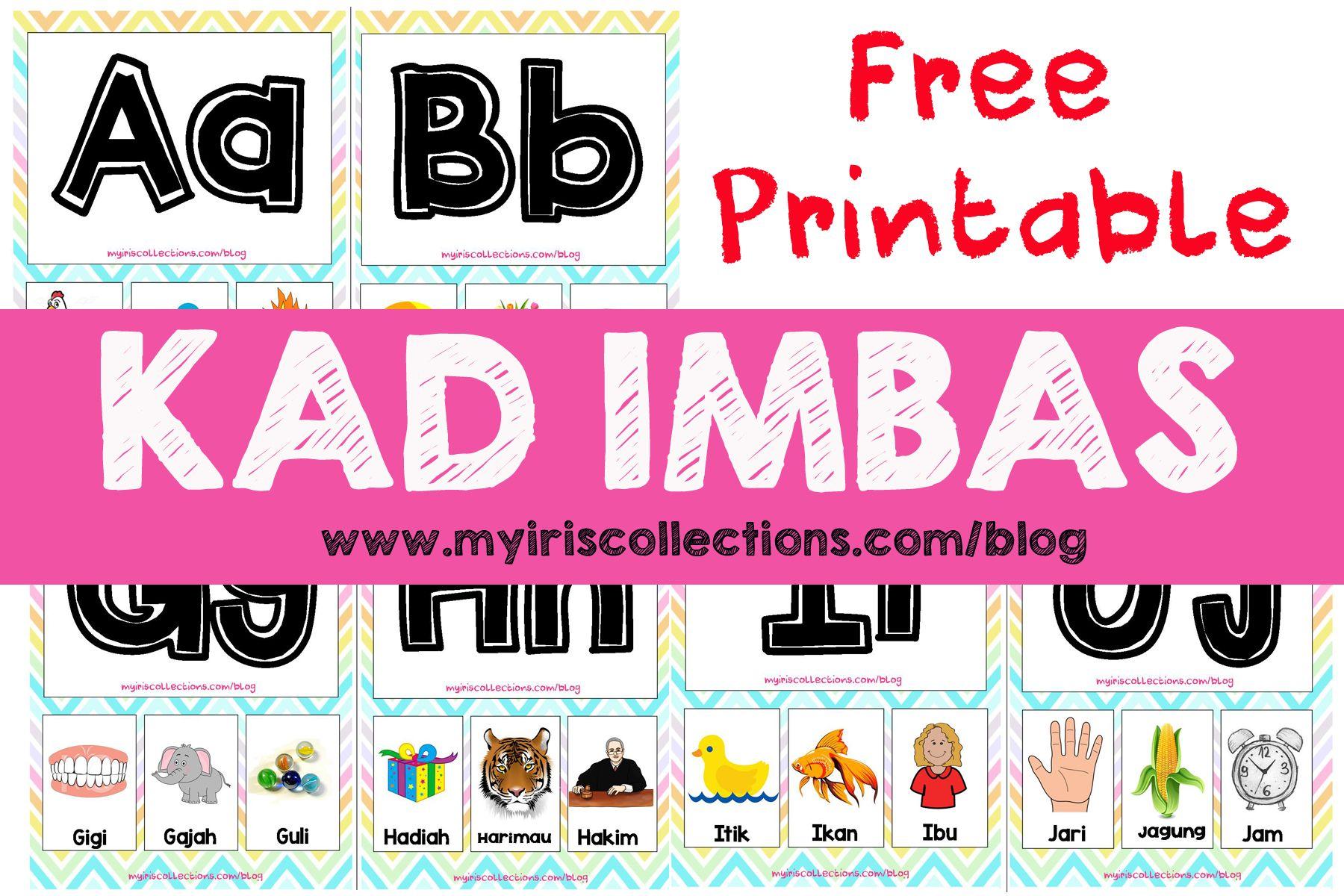 [Free Printable] Kad Imbas Bergambar