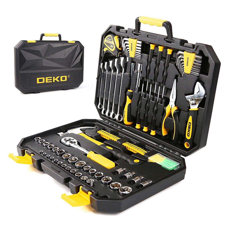 Deko 128pcs Socket Wrench Tool Set Auto Repair Mixed Tool