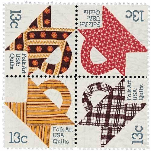 1978 13c Folk Art Quilts, Block of 4 Scott 1745-48 Mint F/VF NH  www.saratogatrading.com
