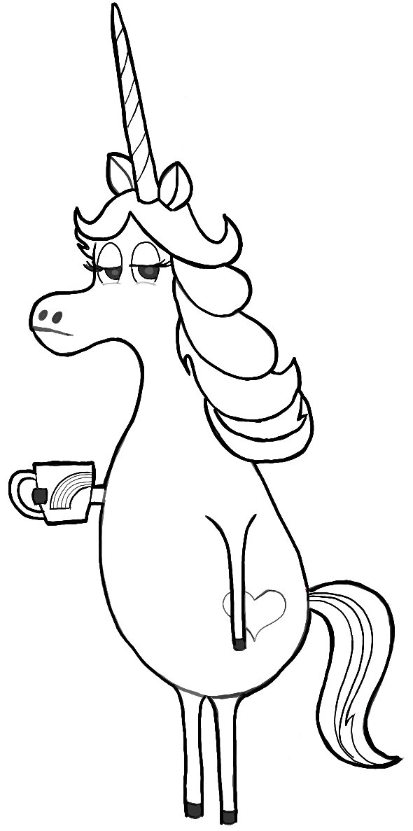 image result for unicorn drawing