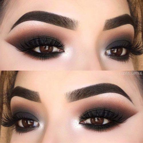 Maquiagem preta: Olho esfumaçado alado