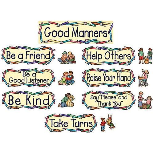 list of good manners and right conduct