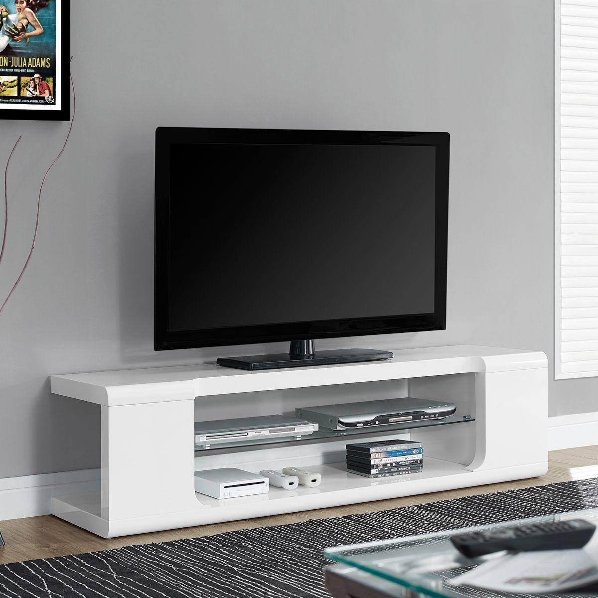 Astin Monarch Modern Tv Stand Console White Media