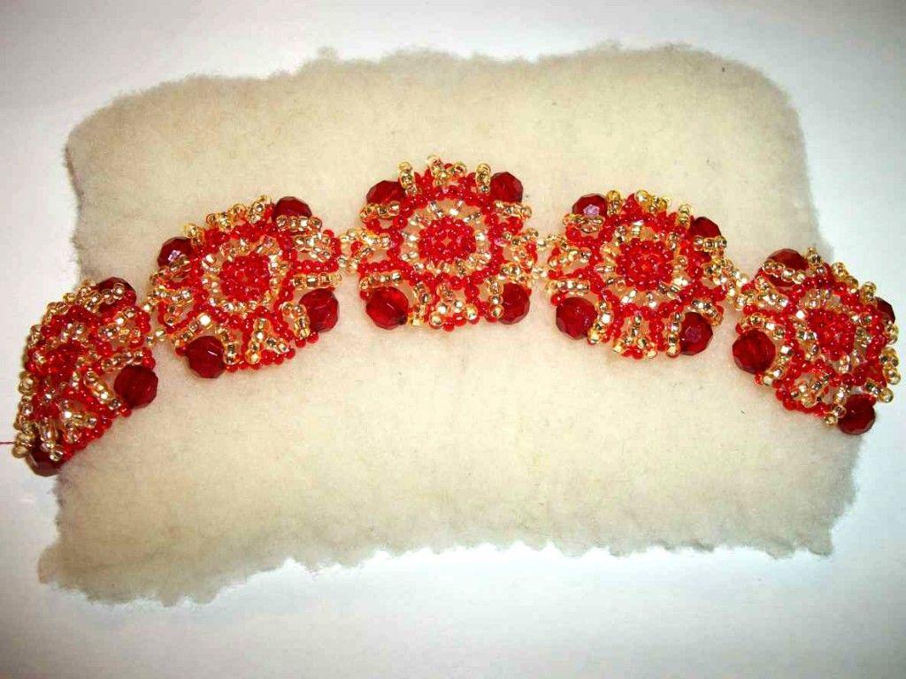 Free pattern for beautiful beaded bracelet Magic Squares | Beads Magic