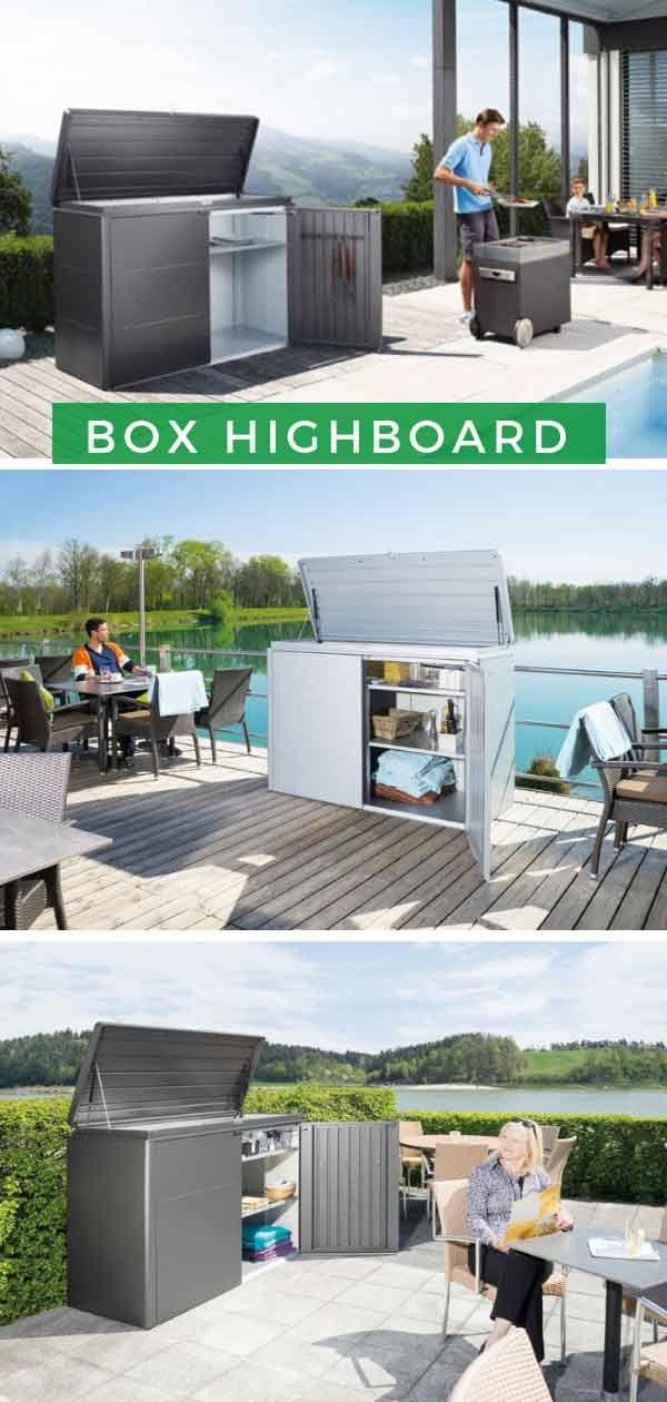 Aufbewahrung Terrasse: Biohort Aufbewahrungsbox HighBoard
