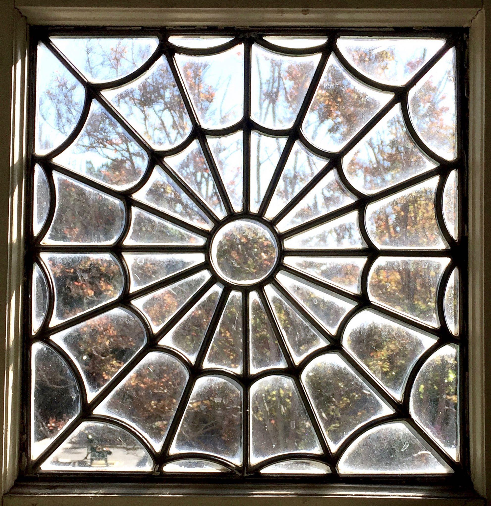 spider web window winchester mystery house san jose california