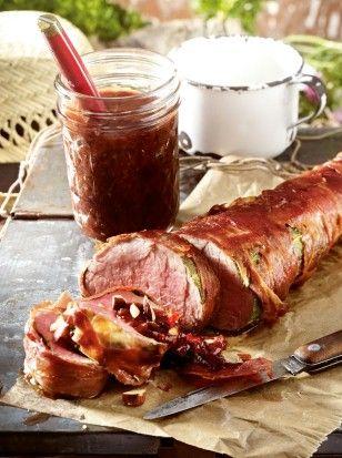das rezept fur schweinefilet im salbei schinken mantel mit pflaumenmusdip und weitere kostenlose rezepte
