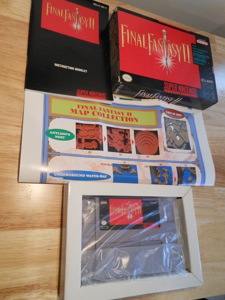 FINAL FANTASY 2 SNES SUPER NINTENDO CIB INSTRUCTIONS MAP MORE WORKS