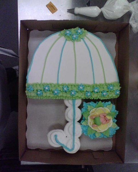 Baby Shower Umbrella Cupcake Cake Cake Decorating