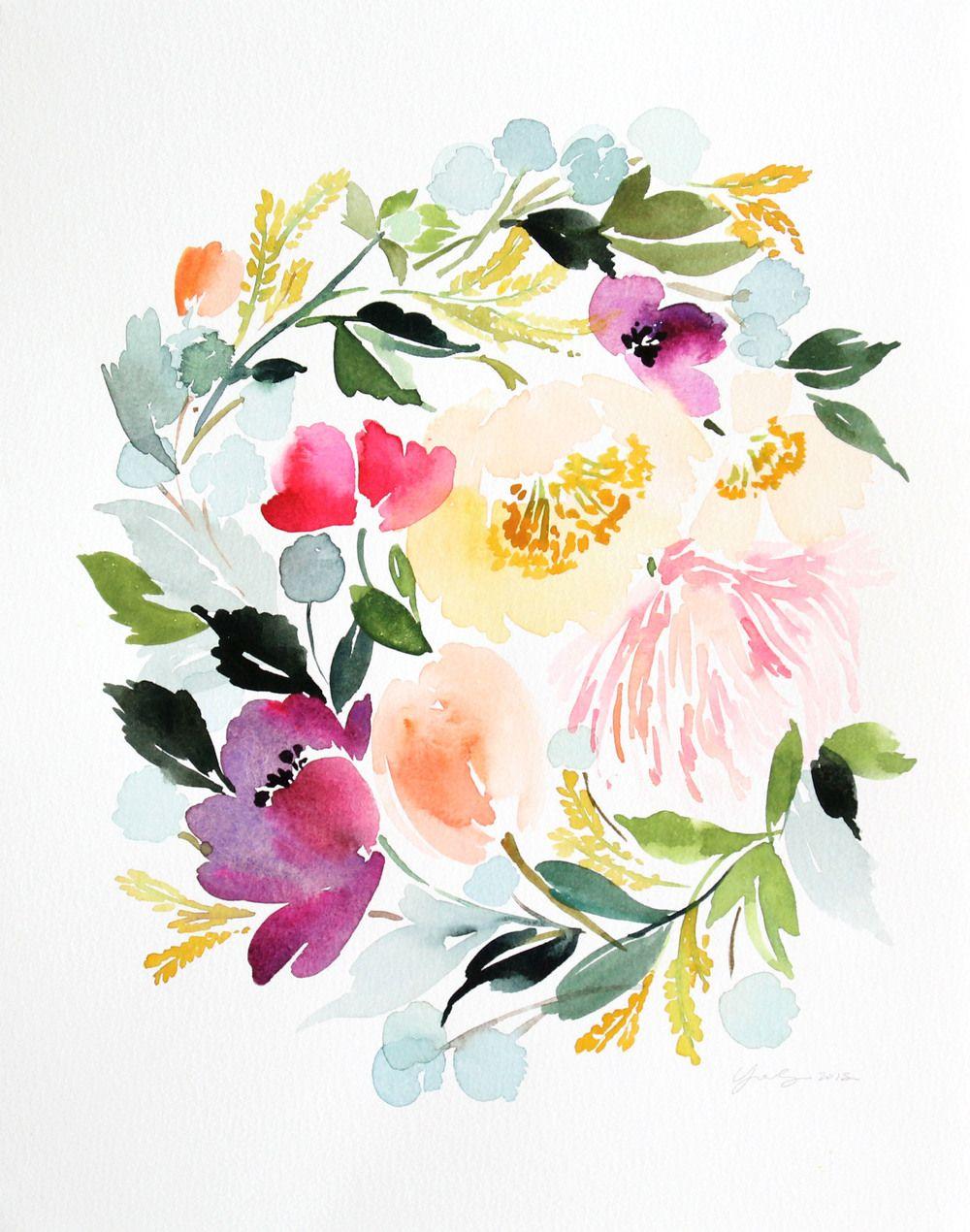Цветы акварель открытка, пензенского зоопарка