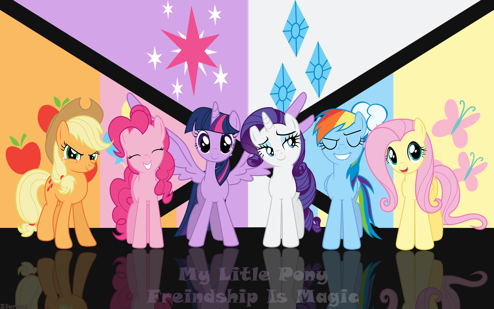 Mane 6 Wallpaper by Zigrass.deviantart.com on @deviantART