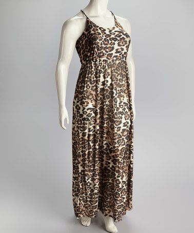 Take a look at this Leopard & Brown Plus-Size Maxi Dress by IB Diffusion on #zulily today! $16.99, regular 59.00