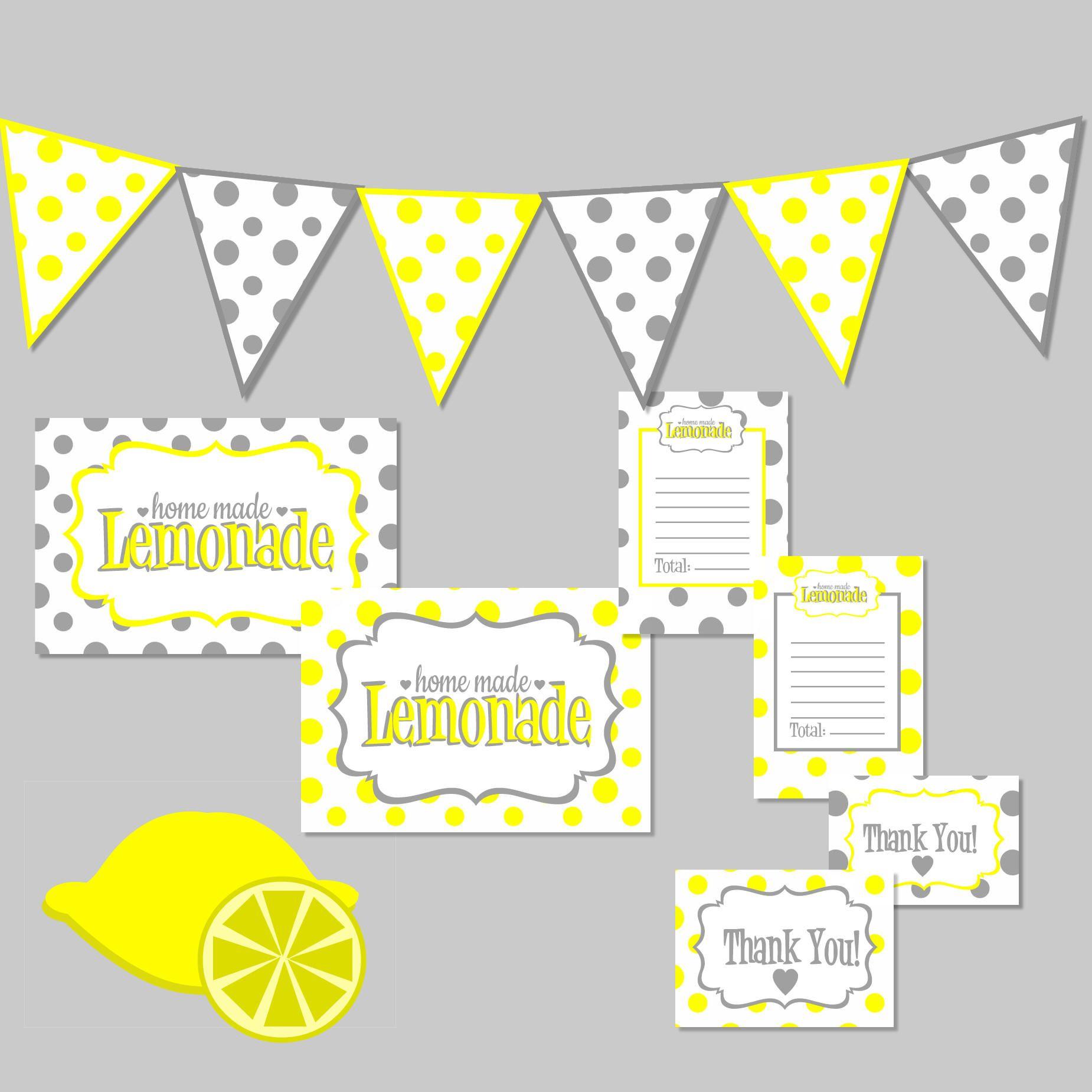 Lemonade Stand Kit Free Digital Download