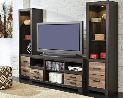 Harlinton 3 Piece Entertainment Center by Ashley HomeStore Two tone