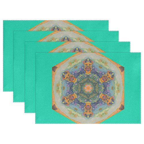 AIDEESS Mandala Ethnic Washable Table Mat for Kitchen Dining Table