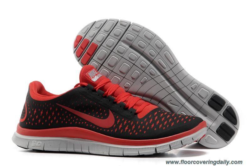 Nike Mens Red Black Free 3.0 V4 511457-060