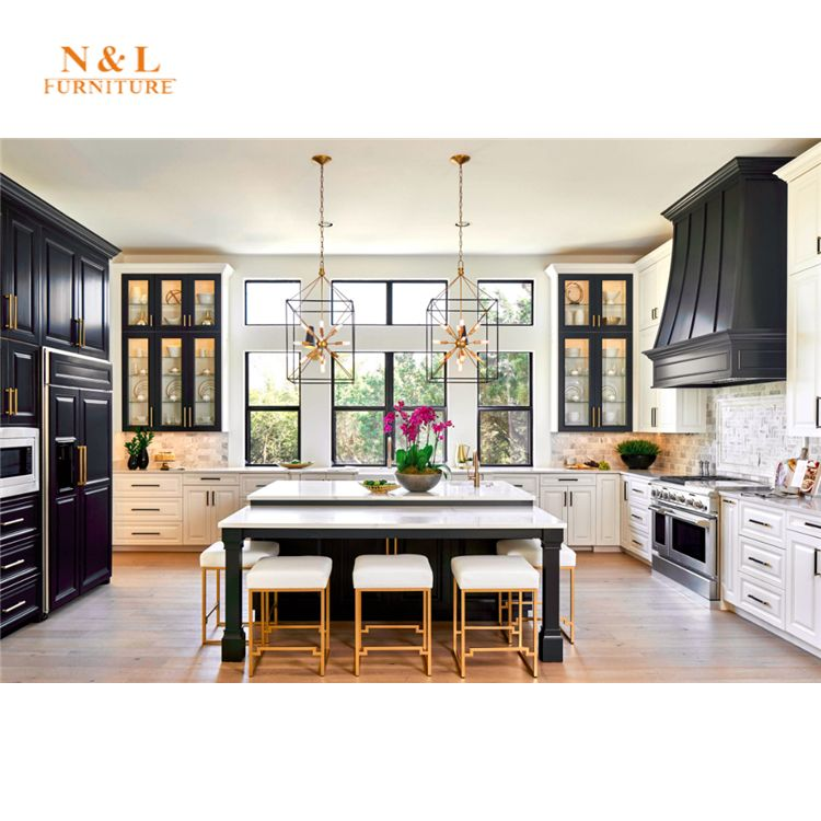 Best Black And White Shaker Solid Wood Paint Kitchen Cabinet 400 x 300