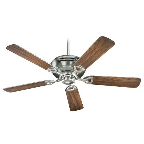 Quorum Lighting Hoffman Satin Nickel Ceiling Fan Without Light - Ceiling Fans without Lights