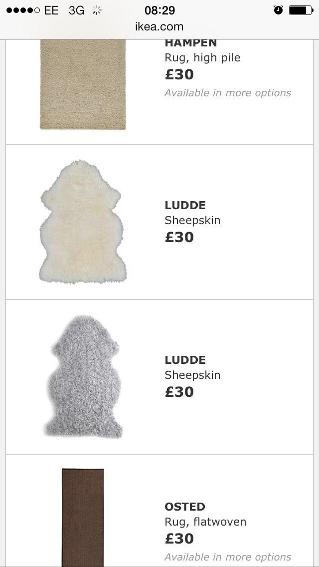 Ikea sheepskin rugs for the lounge