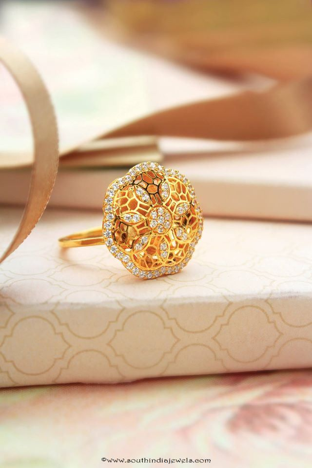 22K Gold Fancy Ring From Manubhai Jewellers | Indian jewelry ...