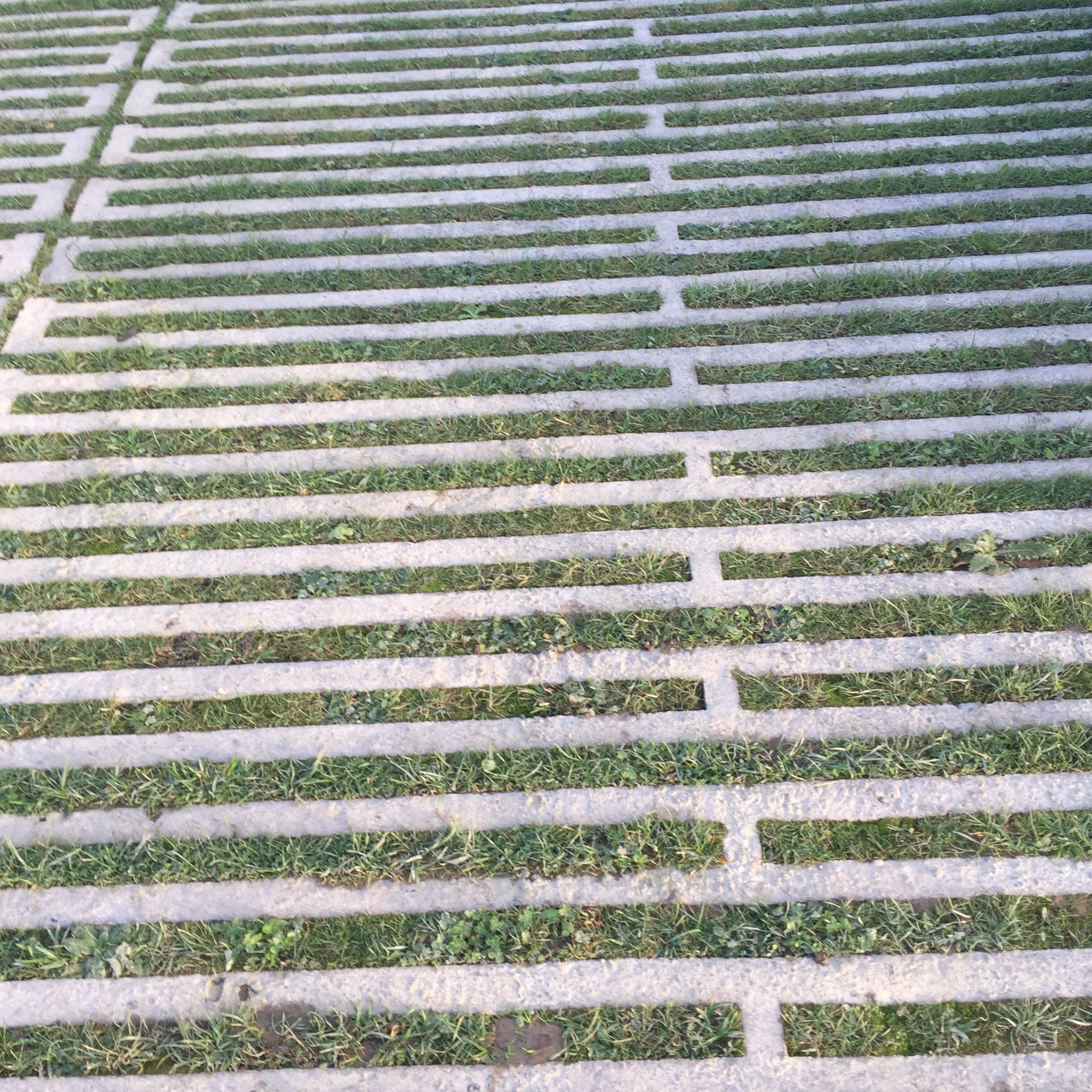 Concrete grass reinforcing pavers for car parking Hauser & Wirth