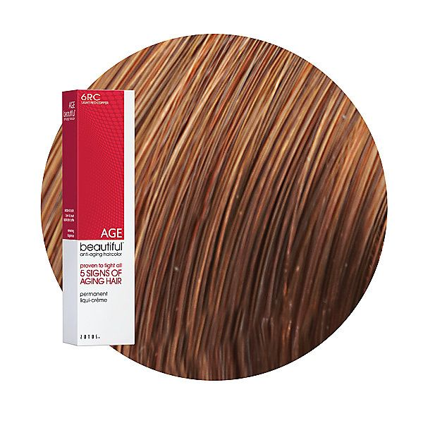 6rc Light Red Copper Permanent Liqui Creme Hair Color Hair