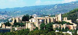 Malaga La Alcazaba desde el mar