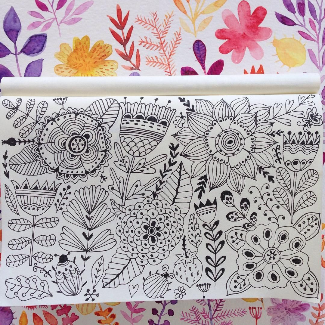 #doodle #pattern#drawing #artist #artjournal #sketchbook #watercolor #painting #flowers