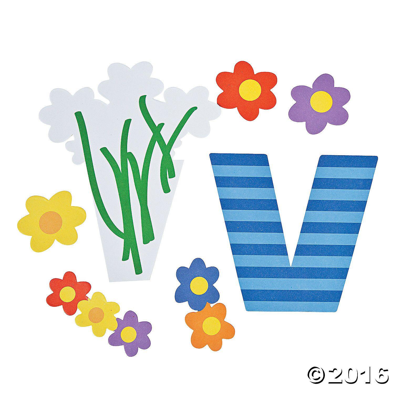V Is For Vase Lowercase Letter V Craft Kit A01