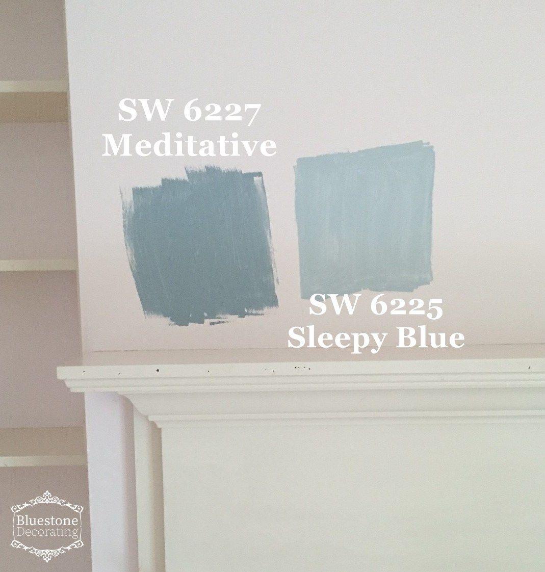 Modern Farmhouse Color Sw 6227 Meditative 6225 Sleepy Blue Farm House Colors Farmhouse Kitchen Colors Farmhouse Color Palette