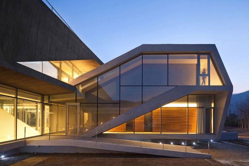 entrée monumentale - Maison Rivendell par IDMM Architects - Corée du