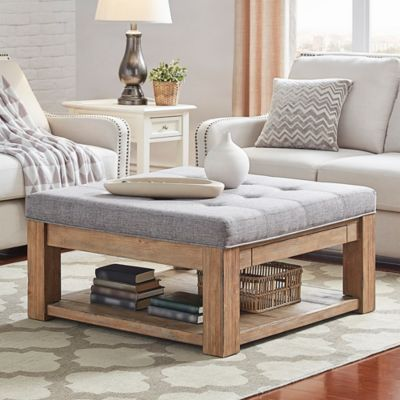 Verona Home Allie Tufted Top Cocktail Table Ottoman In In 2019