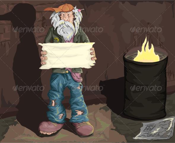 Homeless Man Homeless Man Homeless Art Zine