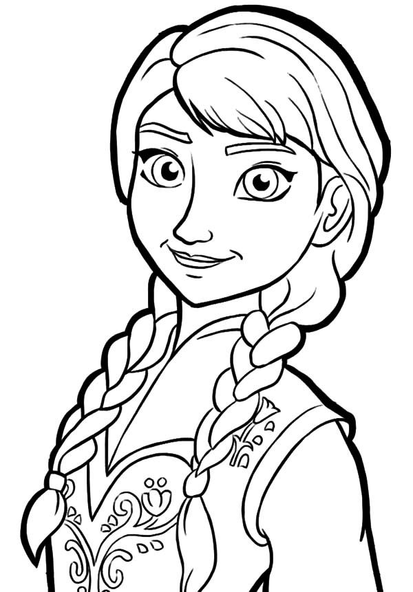 Queen Elsa Only Sister Princess Anna Coloring Pages Clipart