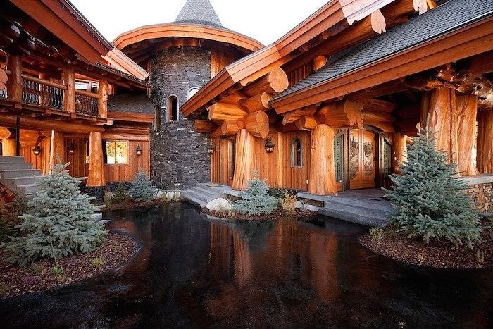 log mansion made by timber kings show on discovery channel