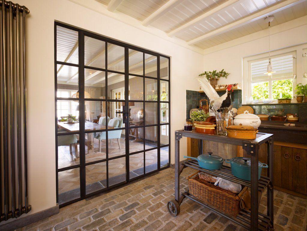 Stalen deuren Landelijke stijl keuken/eetkamer 1 | Stalen deuren ...