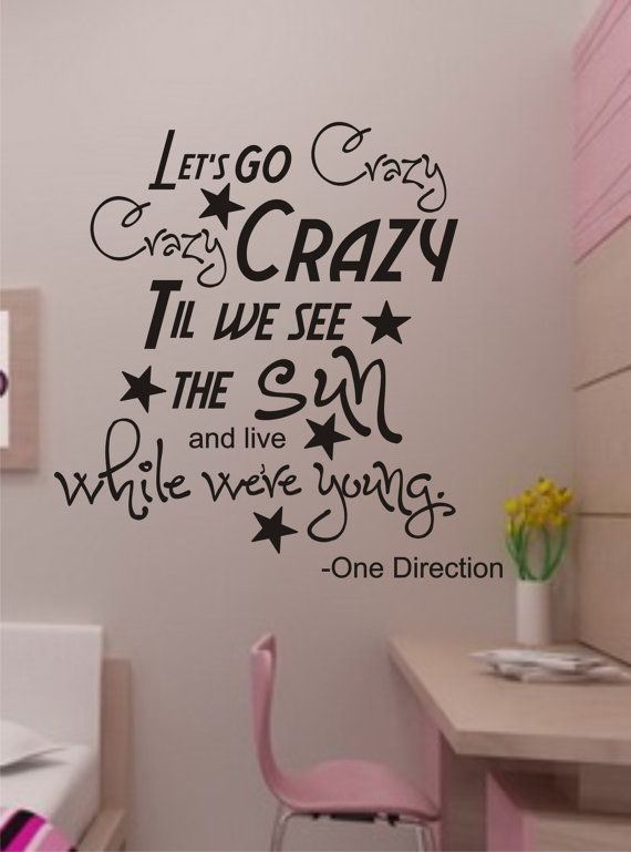 SALE vinyl wall decal One Direction-