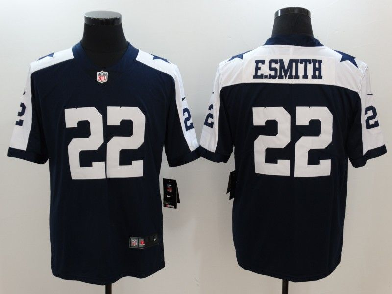 188f7f4e22b Men s Nike Dallas Cowboys  22 Emmitt Smith 2017 Vapor Untouchable Limited  Navy Blue Throwback Alternate