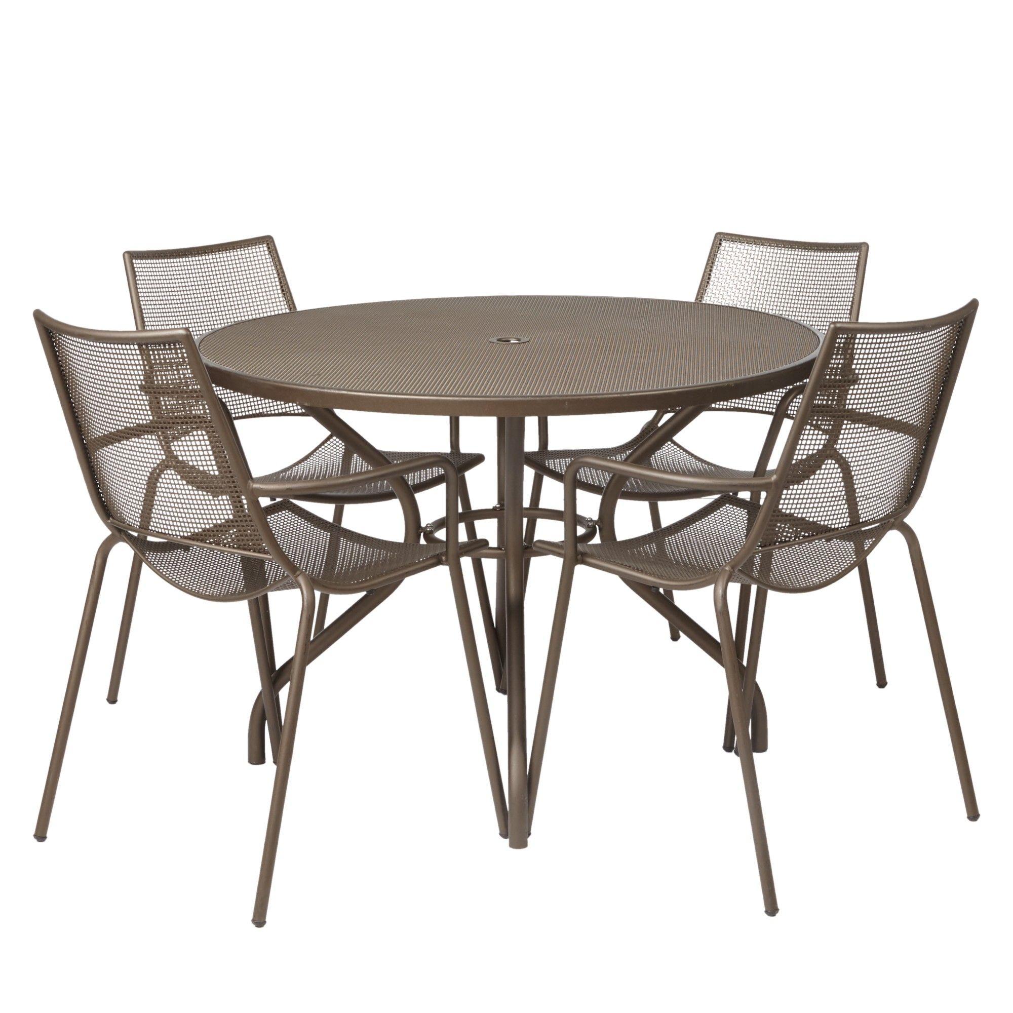 EMU Ala Mesh 4 Seater Outdoor Dining Set  Bronze  499. EMU Ala Mesh 4 Seater Outdoor Dining Set  Bronze  499   Garden