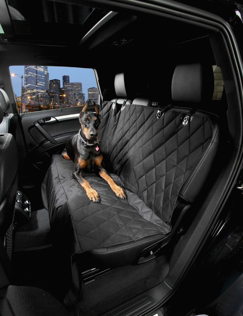 4knines Premium Dog Rear Seat Cover With Hammock For Cars