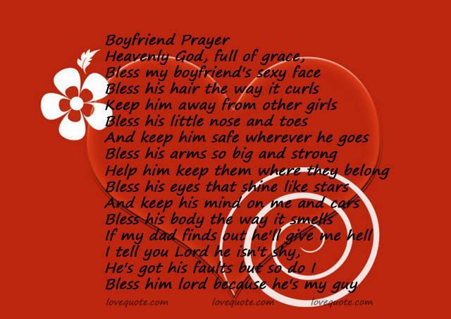 The boyfriend prayer how sweet! | Cutest thing I ever heard