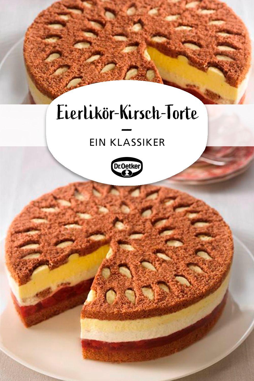 Eierlikör-Kirsch-Torte #cupcakesrezepte