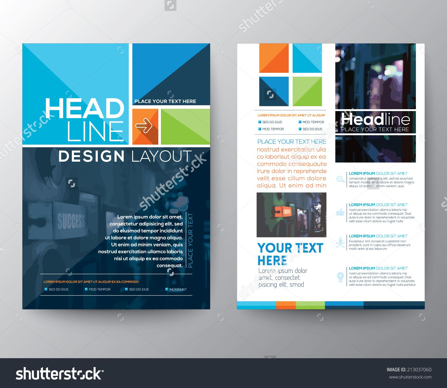 Vector brochure flyer design layout template in a4 size for Decorator pattern